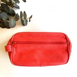 GAP Coral Canvas Toiletry Travel Bag